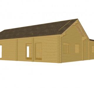 Проект дома из клееного бруса кпс3 кв м