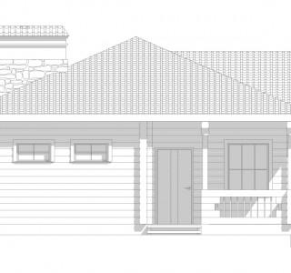 Проект дома из клееного бруса кпс9 кв м
